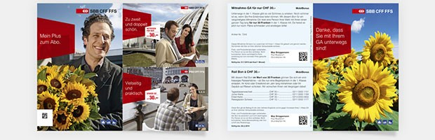 Kundenbindungs- und Wertschätzungsmailings für das GA der SBB mit segmentspezifischen Incentives.